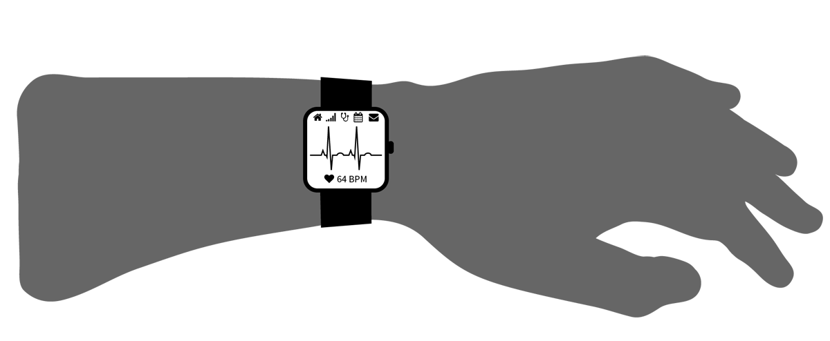 Weekly Free Tech Pictogram – SmartWatch on Wrist