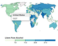 Global Alcohol Consumption Visualization