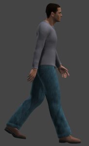 Animated character in Poser